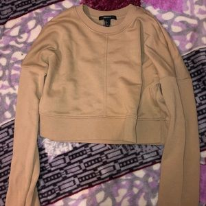 Cropped Nude Forever 21 Sweater